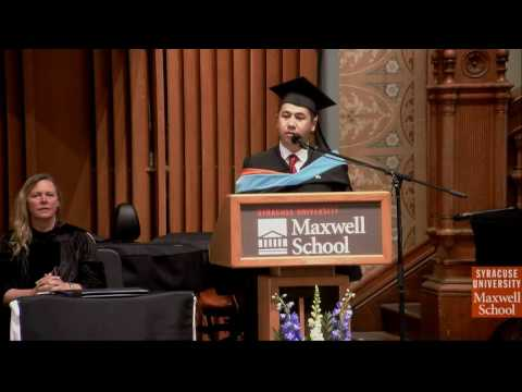 2016 Maxwell School Graduate Convocation, with Keynote Catherine Bertini