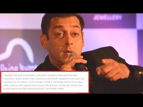 Salman Khan's REACTION To India's Surgical Strike Against Pakistan!