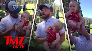 Justin Timberlake Pulls Off Iconic 'Lion King' Scene With Random Baby | TMZ TV