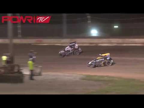 9/14/18 POWRi Lucas Oil National Midget League Highlights from Jacksonville Speedway