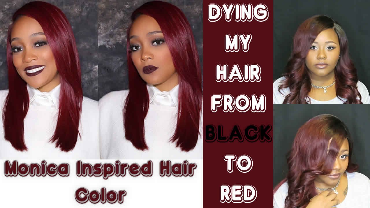 Diy Hair Color From Black To Red Stylingmonica Youtube
