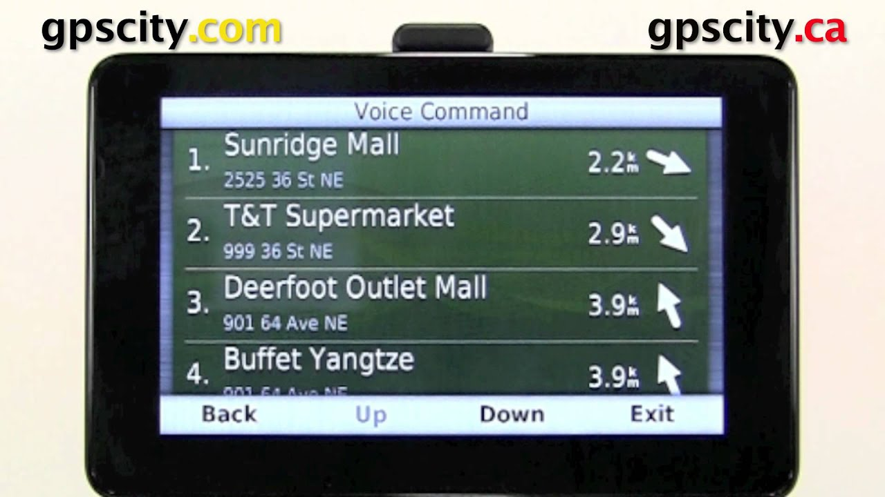 Getting Started With Voice Command On The Garmin Nuvi 3550 And Nuvi