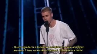 "[LEGENDADO] Justin recebendo o prêmio ""Best Male Artist"" no Billboard Music Awards 2016"