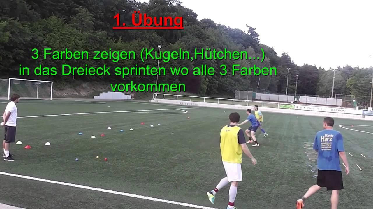 Fussballtraining Kognitives Training Koordination Sprintwettkampf