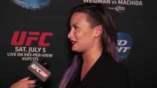 UFC 175: Demi Lovato Interview