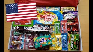American Candy Unboxing & Tasting (No Talking) [ASMR]