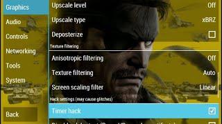 Metal Gear Solid: Peace Walker PPSSPP v1.4 Best Settings