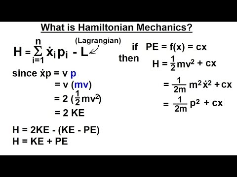 Physics - Adv. Mechanics: Hamiltonian Mech. (1 of 18) What is Hamiltonian Mechanics?