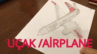 Airplane draw , drawing / Uçak çizimi , Uçak nasıl çizilir  ✈️