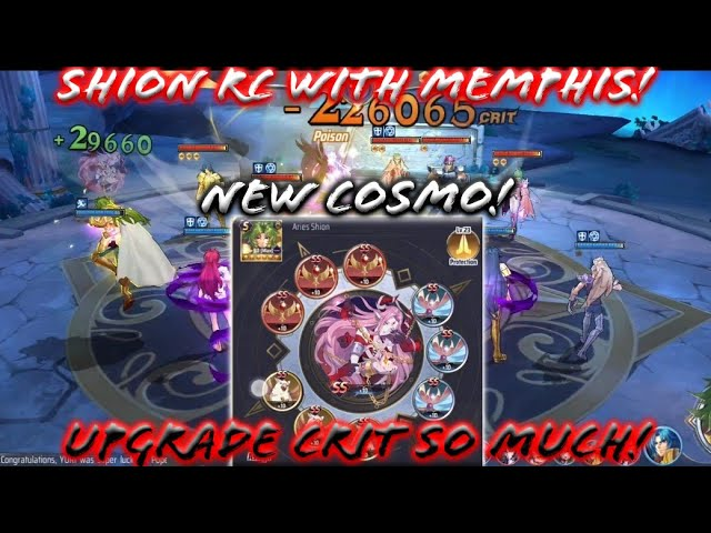 Saint Seiya Awakening Kotz Shion Rc With New Cosmo Memphis Test At Pvp Crit So Much Youtube