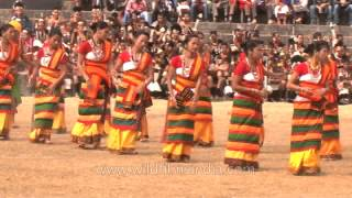 Serpentine dance of the Kachari tribes