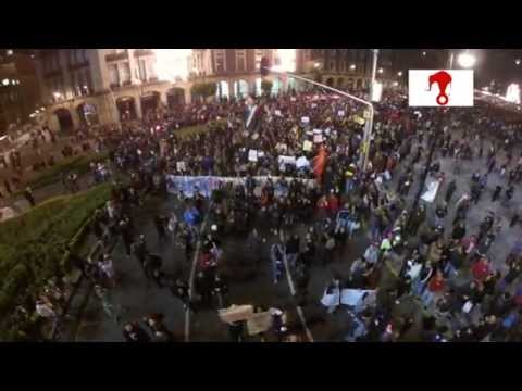 Así es como un drone fue testigo de la multitudinaria manifestación en apoyo a Ayotzinapa