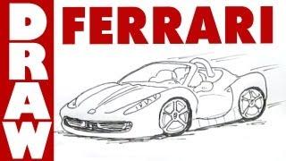How to Draw a Ferrari 458 Spyder