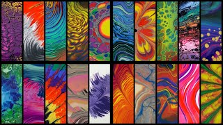 20 Different Acrylic Pouring Techniques and Variations - Abstract Fluid Art + Music