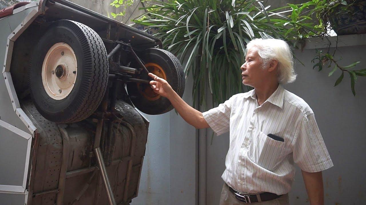 Độc đáo ô tô điện tự chế của thầy giáo Vật Lý về hưu