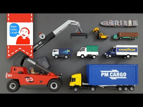 Learning Truck Vehicles Names and more for kids with siku playmobil tomy