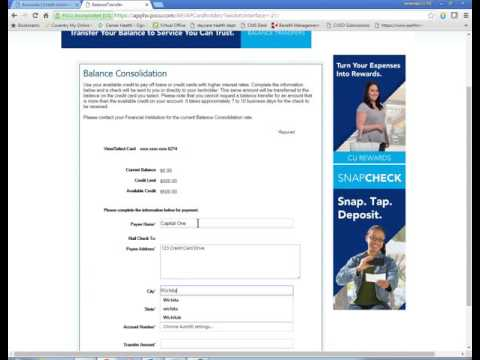 How To Do Credit Card Balance Transfer In Online Banking