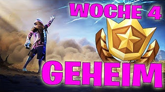 GEHEIMER BATTLE STERN WOCHE 4 SEASON X ☆ LEVEL UP ☆ FORTNITE BATTLE ROYALE DEUTSCH