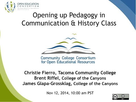 CCCOER: Opening Up Pedagogy With Open Educational Resources