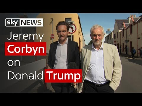 Has Corbyn changed his stance on Trump?