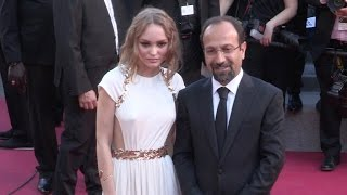 Lily Rose Depp on the red carpet for the Opening Ceremony of the 70th Cannes Film Festival