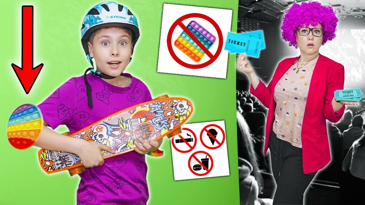 Как пронести ПОП ИТ в Кинотеатр челлендж ! Фаст Сергей устроил день спорта