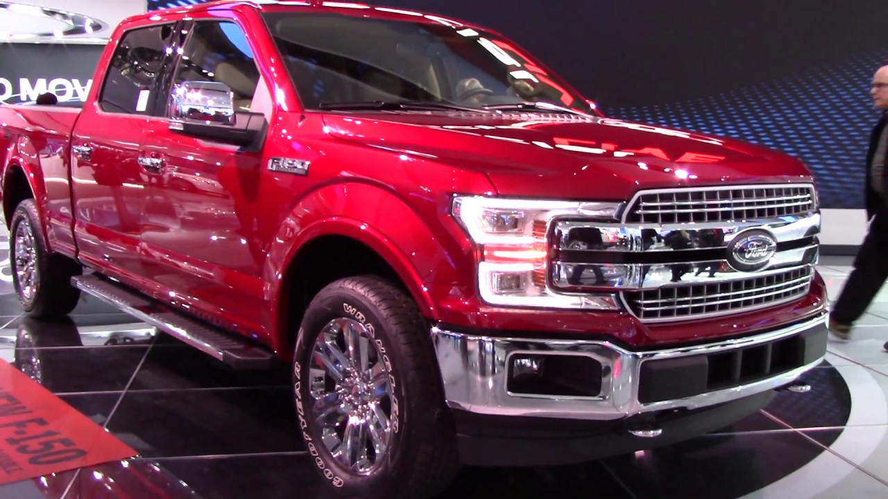 2018 ford f 150 lariat close detail walkthrough detroit auto show 2017