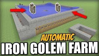 Minecraft - AUTOMATIC IRON GOLEM FARM - Tutorial - PS4 / PE / Xbox / PS3 / Wii U