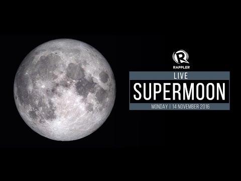 LIVE: Supermoon, 14 November 2016