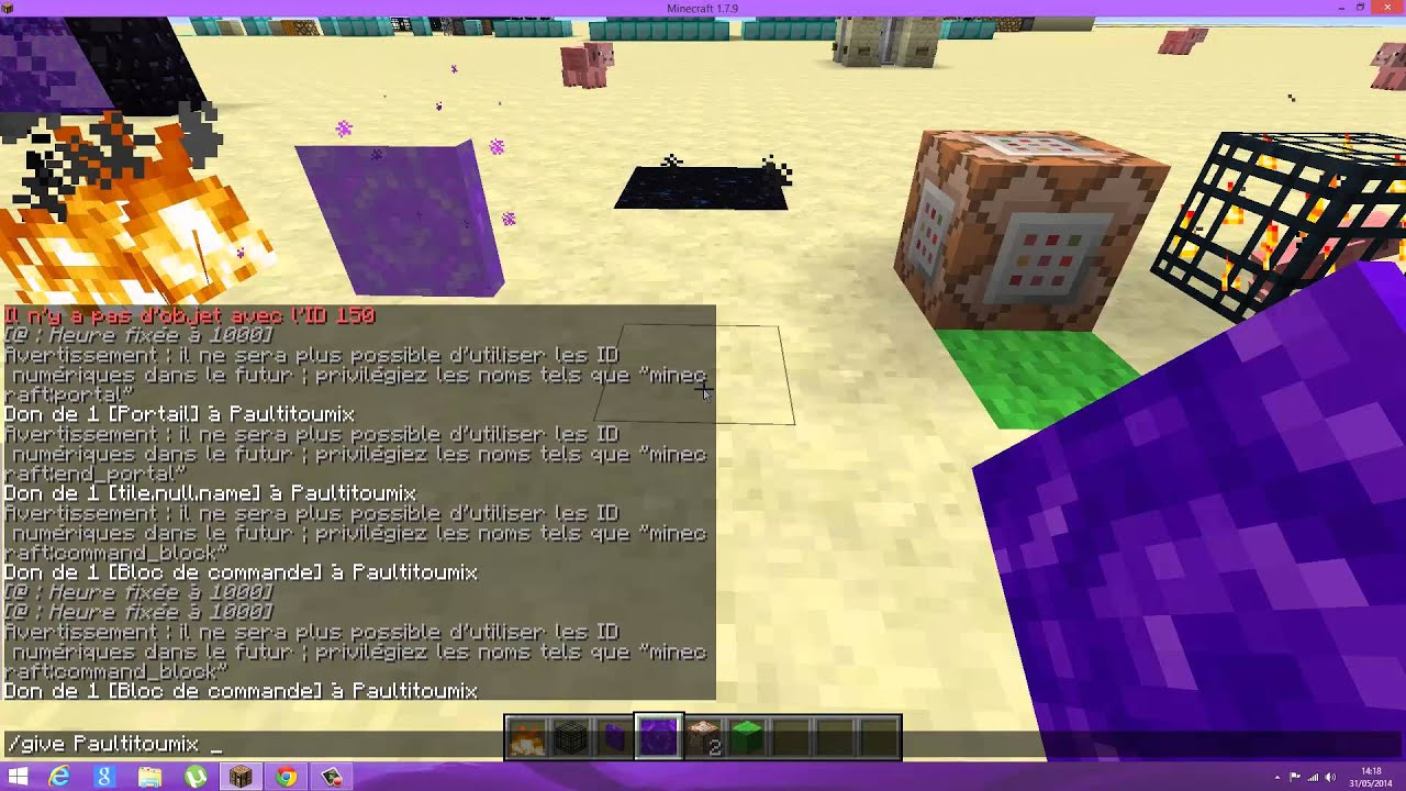 minecraft how to get a ender dragon egg command 1.8