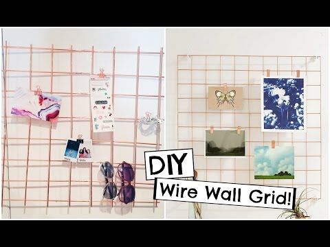 DIY Urban Outfitters Inspired Copper Wire Wall Grid | Back to School Organization!