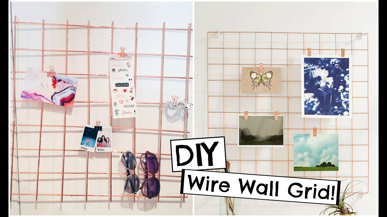 Wall Grid Diy Urban Outfitters Inspired Copper Wire Wall Grid Back To School Organization