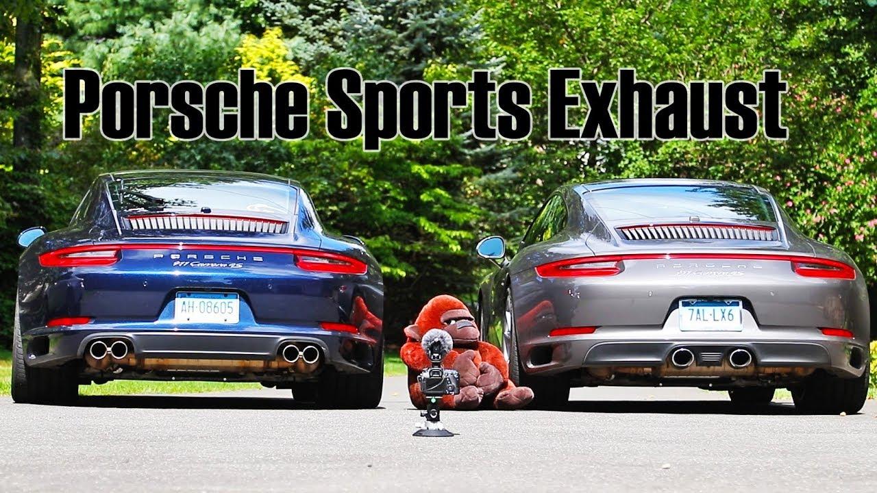 Porsche Sports Exhaust Pse Vs No Sports Exhaust 911 9912