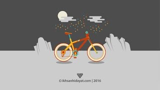 How to Create Bicycle Flat Design - Illustrator tutorials