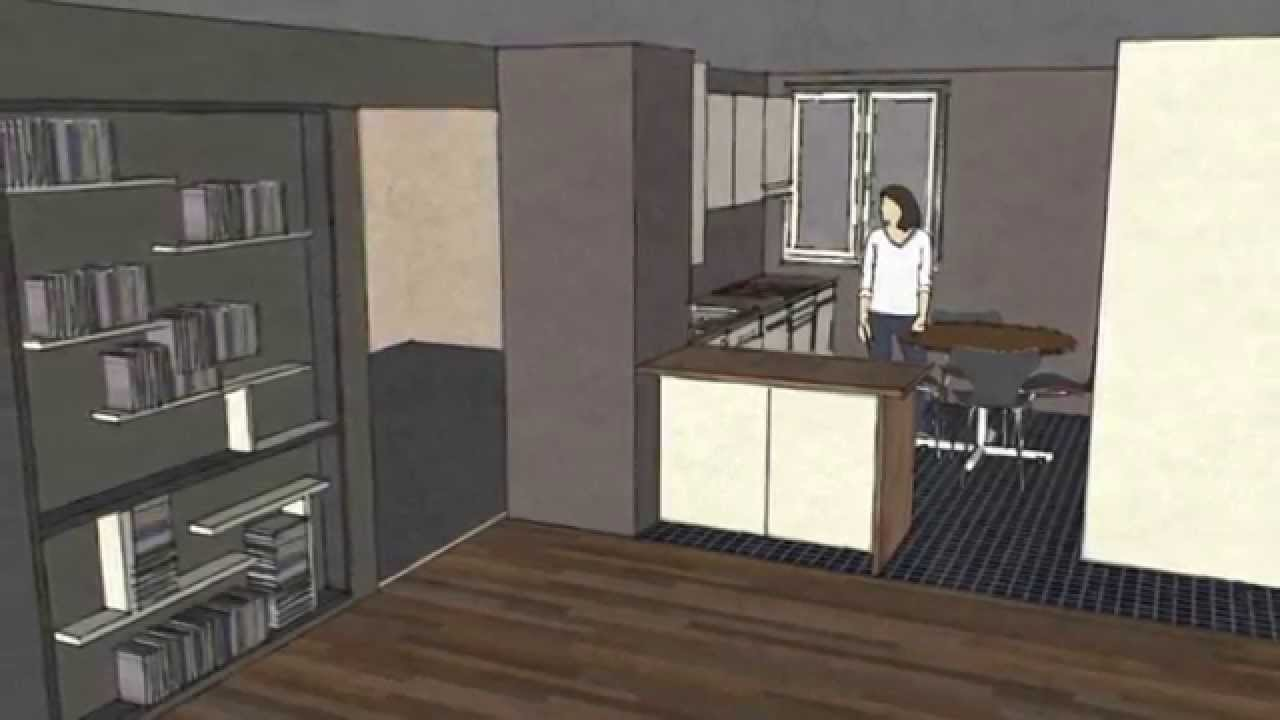 dessiner une cuisine sketchup youtube. Black Bedroom Furniture Sets. Home Design Ideas