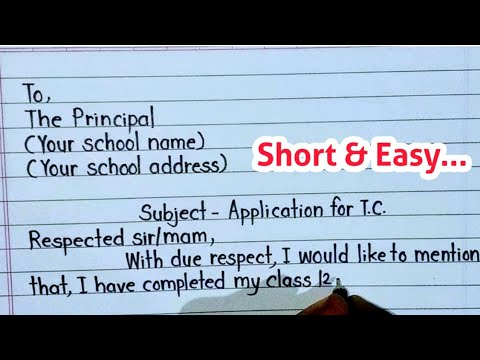 Application for transfer certificate // Application for school leaving certificate // english