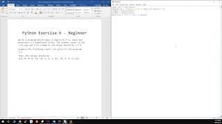 Python Exercise 6 - Beginner