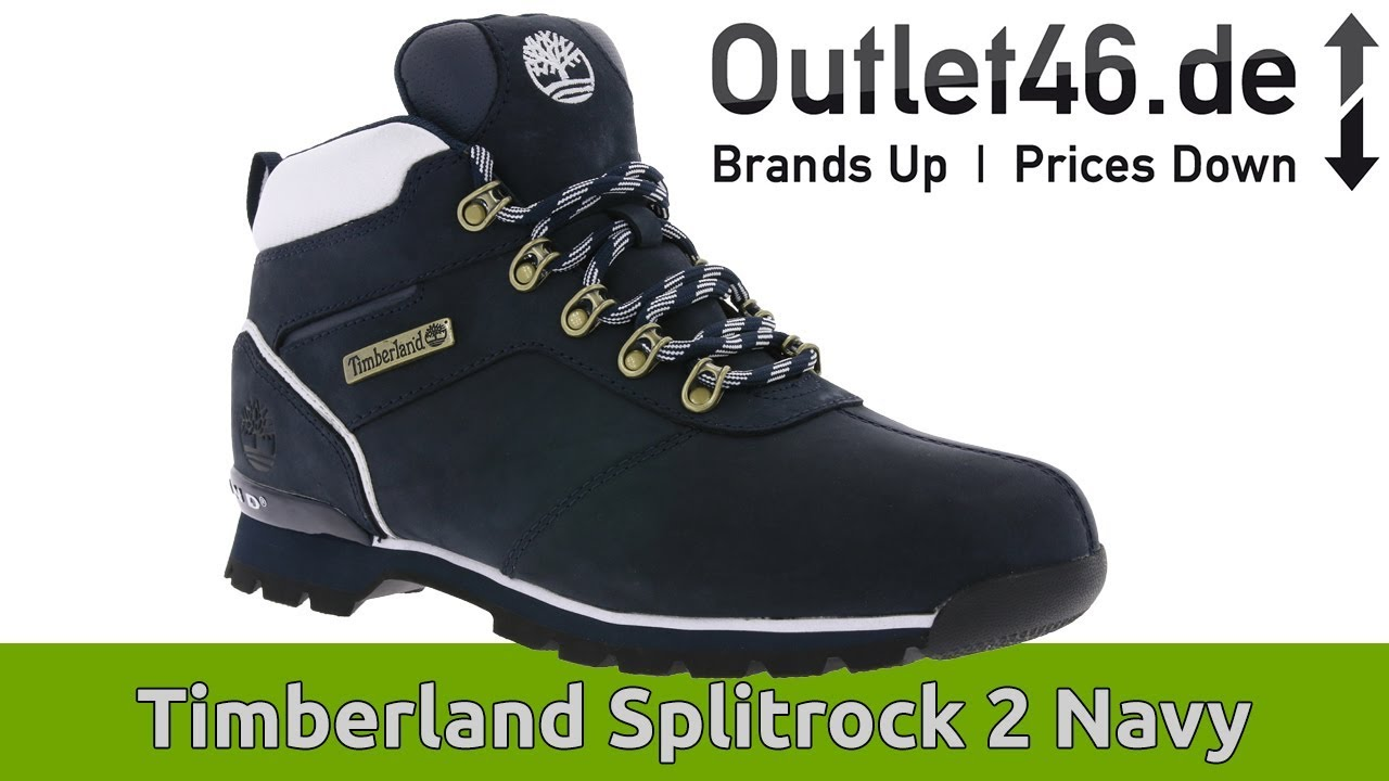 competitive price d596f 06bee Timberland Splitrock 2 Navy l Der Umweltbewuste Schuh ? l DEUTSCH l Review  l On feet l Outlet46.de