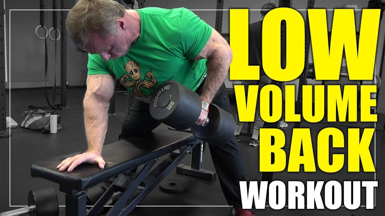 """""""5"""" Exercise Low Volume Back Workout YouTube"""