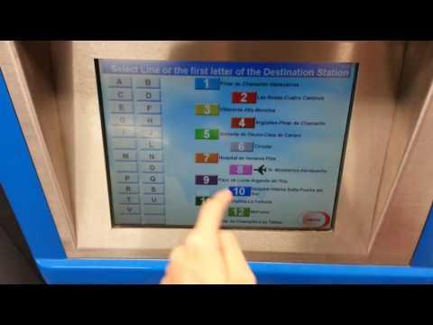 [Madrid Metro] Buying 1-Trip Ticket via TVM (English Version)