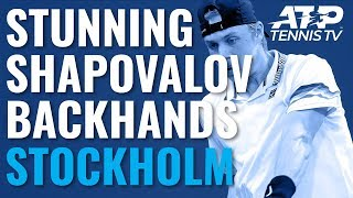 Stunning Denis Shapovalov Backhand Winners vs Sugita | Stockholm 2019