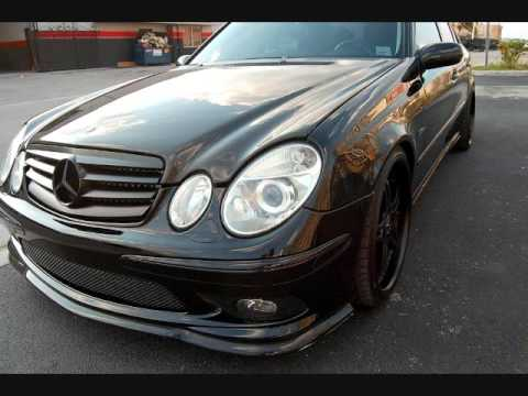 MC Design Whips Murdered Out 2006 Mercedes E55 AMG - YouTube