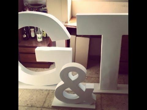 Como hacer letras gigantes 3D para bodas