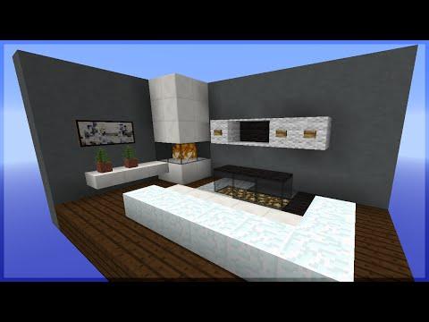 Minecraft: Como fazer uma Sala de TV MODERNA