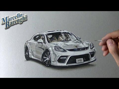 How to draw a Porsche Panamera