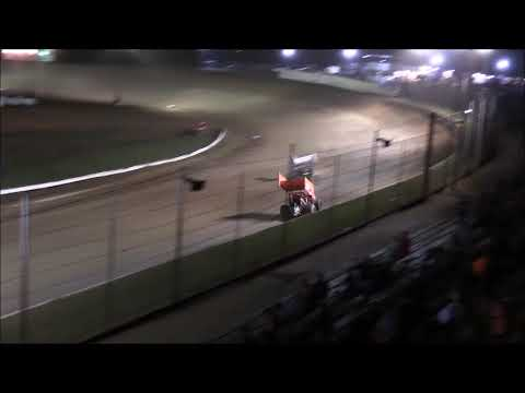 Sprint Car B-Main #2 from Atomic Speedway, October 6th, 2018. - dirt track racing video image