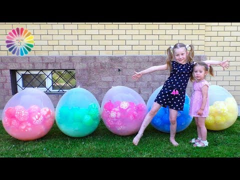 Thumbnail: Blow up GIANT BALLOONS 1000+ Easy Experiments for Kids | Learn Colors for Toddlers and Children
