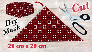 New Style Fabric Face Mask Diy Breathable Very Simple Mask Easy Pattern Sewing Tutorial At Home