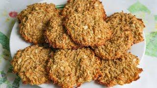 Овсяное печенье с яблоками и имбирём, без сахара, без муки, без яиц.