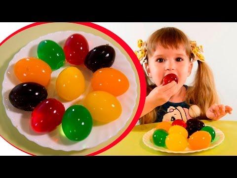 Необычные пасхальные яйца из желе делаем сами своими руками